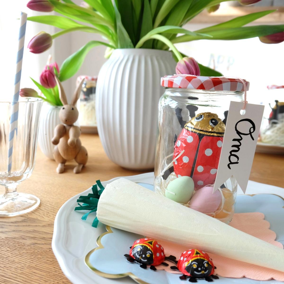 Diy Ostern Tischdeko Basteln Glas Hase 1b So Leben Wir