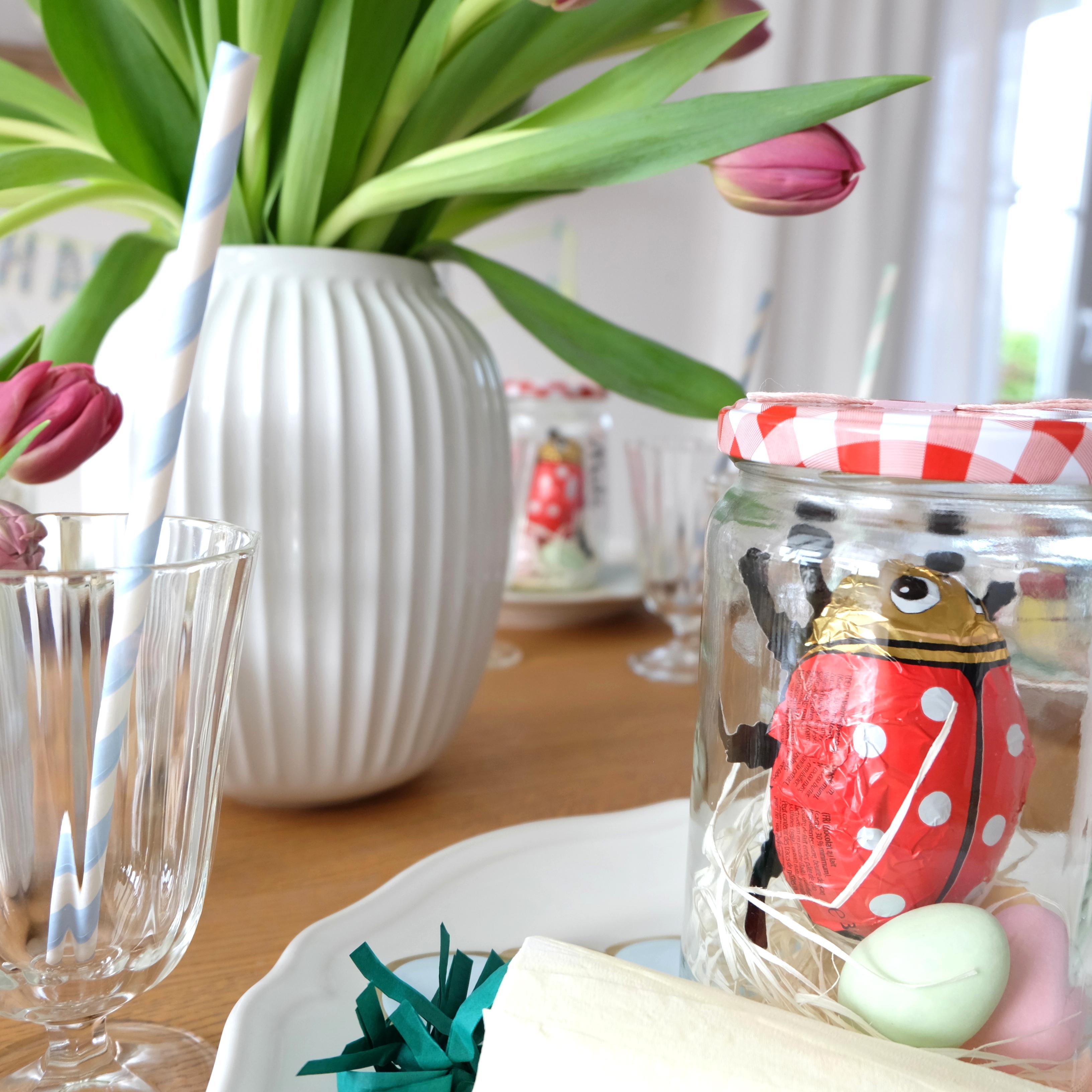 Diy Ostern Tischdeko Basteln Glas Hase Kahler Vase Kay Bojesen 10b