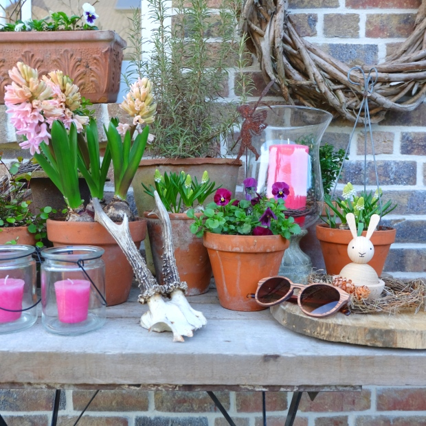 Garten Deko Kissen Pink Terrasse 1