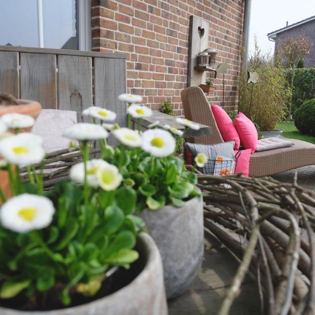 Garten Deko Kissen Pink Terrasse 14