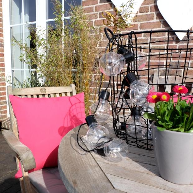Garten Deko Kissen Pink Terrasse 4