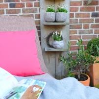 Garten Deko Kissen Pink Terrasse 5