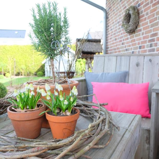 Garten Deko Kissen Pink Terrasse 6