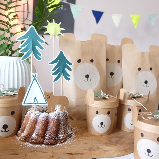 Bärengeburtstag Kinder DIY 19