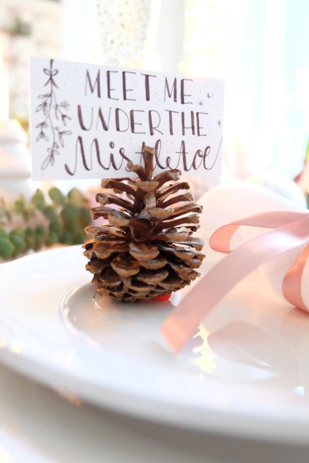 Tischdekoration Weihnachten 7