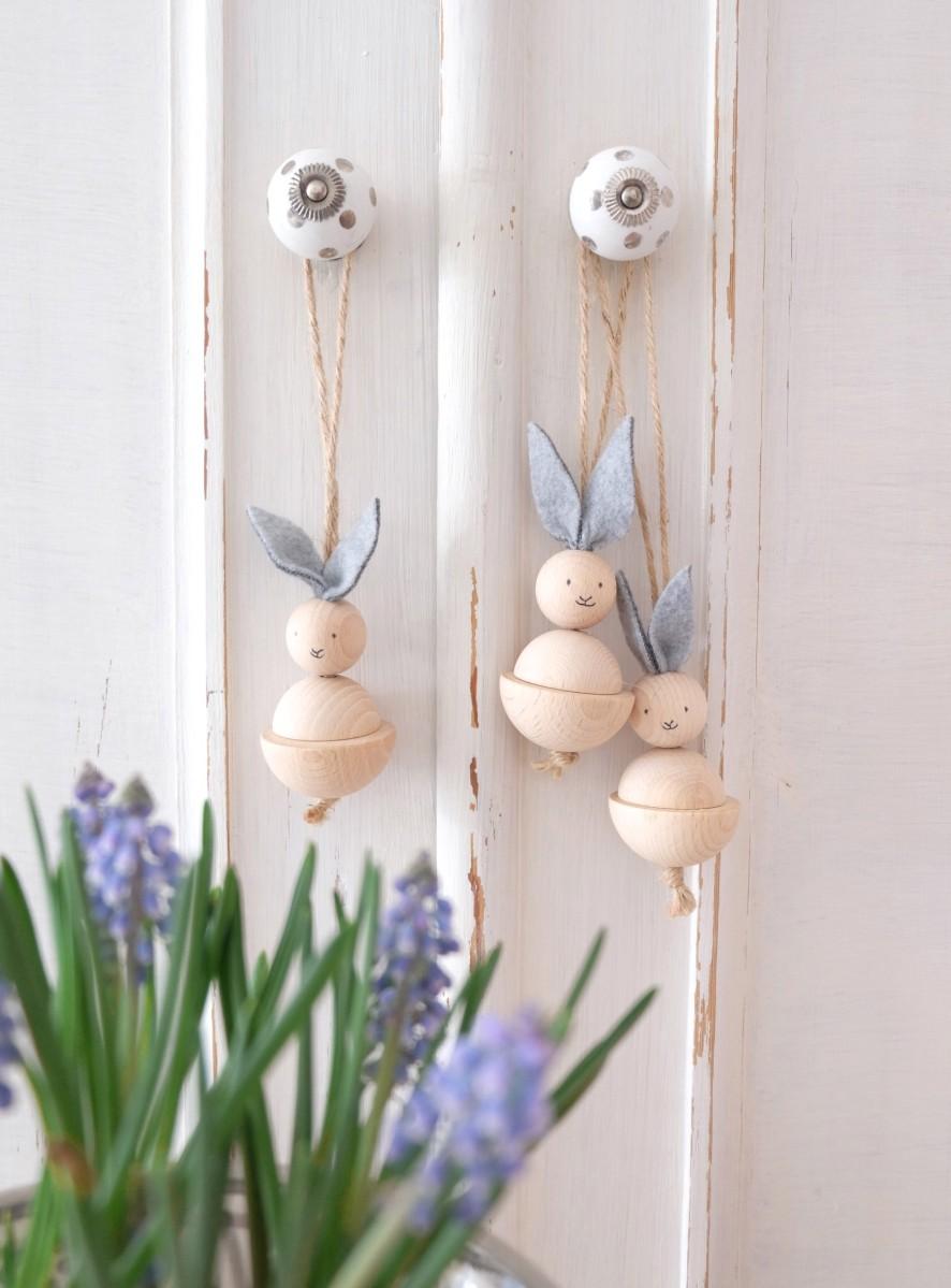 Werbung unbeauftragt| Osterhasen aus Holz basteln - schnelles DIY für Ostern
