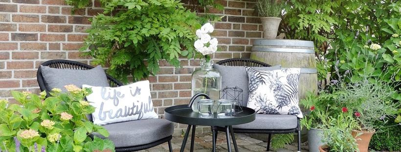 Werbung | Gemütliche Outdoorsitzecke, Loungemöbel für die Terrasse ...