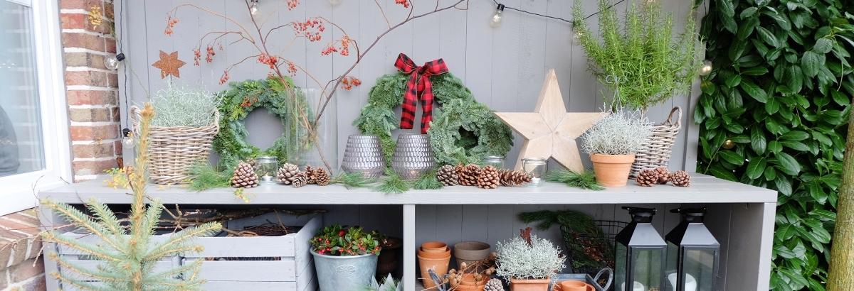 Winterlich Dekorieren im Garten - unser Garten wird winterfest