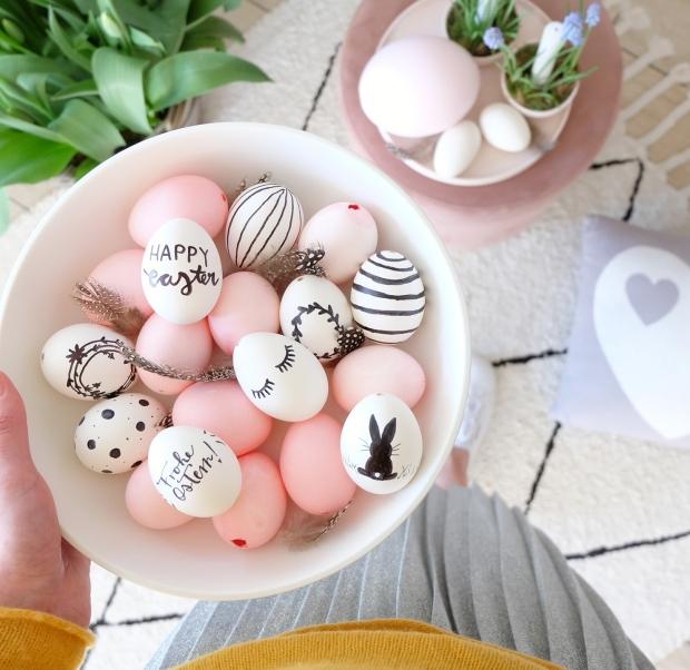 Ostern Tischdeko Dekoration Eier diy 1