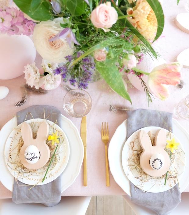 Ostern Tischdeko Dekoration Eier diy 11