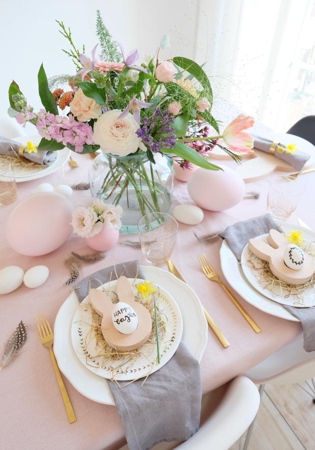 Ostern Tischdeko Dekoration Eier diy 13