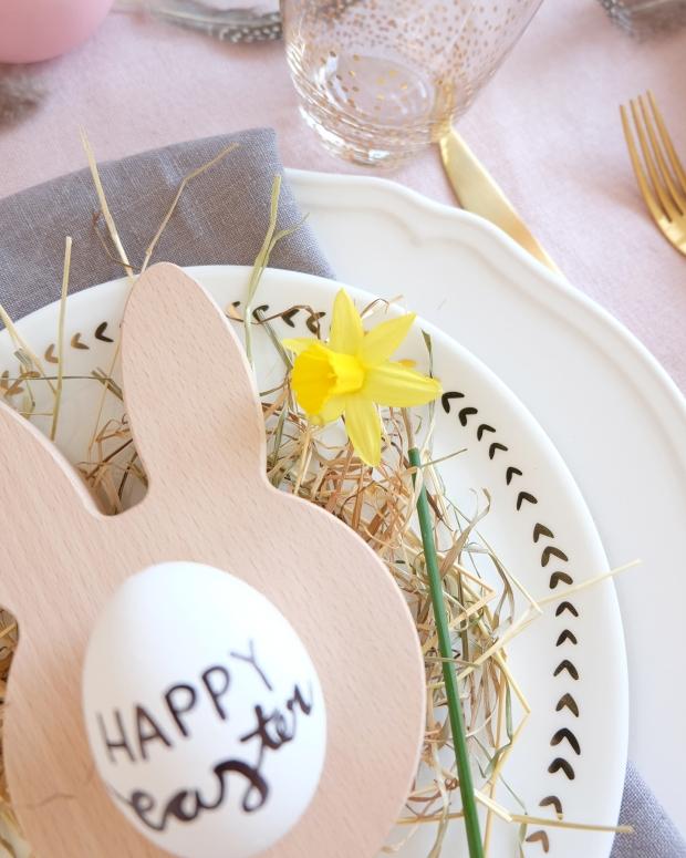 Ostern Tischdeko Dekoration Eier diy 6