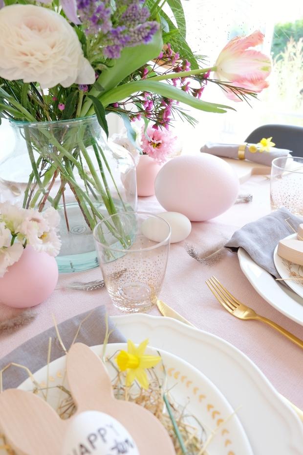 Ostern Tischdeko Dekoration Eier diy 9